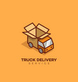 truck delivery logo vector image vector image