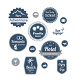 typography design travel and cruise tours vector image