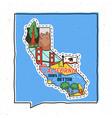 vintage adventure california badge vector image vector image