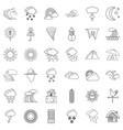 weathercock icons set outline style vector image vector image