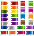 web ribbon set vector image vector image