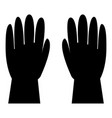 working gloves icon black color flat style simple vector image vector image
