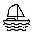 yacht boat icon outline vector image vector image