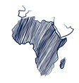 Africa continent vector image