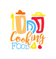 logo template for cooking food club with kitchen vector image