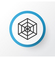 spider web icon symbol premium quality isolated vector image