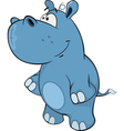A little hippo Cartoon vector image vector image
