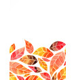 abstract autumn leaves watercolor background vector image