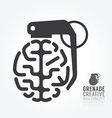 brain distortion from grenade concept engine vector image