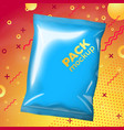 bright pouch for snacks abstract style vector image