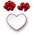 Celebrate love background with red balloons vector image