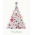 Christmas and new year hand drawn icon pine tree