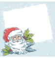 Christmas postcard with cute smiling Santa Claus vector image vector image