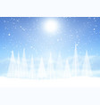 christmas tree snowy landscape vector image vector image