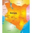 color map of Kenya country vector image