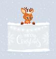 deer text vector image vector image