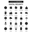 digital security glyph icon set vector image