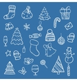 Doodle christmas elements vector image vector image