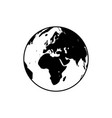 earth globe icon vector image
