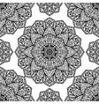 filigree pattern mandalas vector image vector image