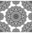 filigree pattern of mandalas vector image vector image