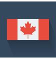 flat flag canada vector image vector image