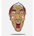 football fan from Denmark vector image vector image