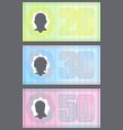 Funny Money with Gradient Protection Lines vector image vector image