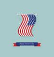 hanging flag and ribbon on the day of americas vector image vector image