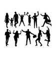 happy winner silhouettes vector image vector image