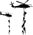 Helicopter landing vector image