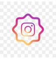 instagram social media icon design template vector image