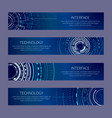 interface and technology set vector image vector image