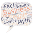 Lazy Wealth Myth Or Fact text background wordcloud vector image vector image