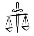 libra of justice vector image