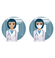 medical doctor woman with stratoscope vector image