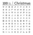 merry year flat line icons gifts vector image vector image