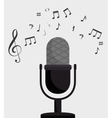 microphone retro isolated icon design vector image vector image