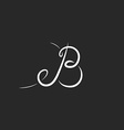 Mockup logo B letter monogram calligraphic design vector image vector image