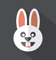 Modern Flat Design Rabbit Icon vector image
