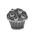 muffin glyph icons vector image vector image