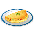 Omelet vector image vector image