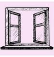 opened blank window frame vector image vector image