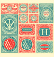 pack of 12 old cards vector image vector image