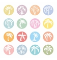Palm Tree Icons vector image vector image