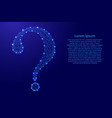 question mark icon map from futuristic polygonal vector image