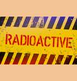 radioactive warning sign nuclear power danger vector image