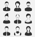 set business people different male and female user vector image vector image