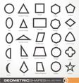set geometric shapes vector image vector image