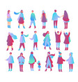 set of people in different vector image vector image